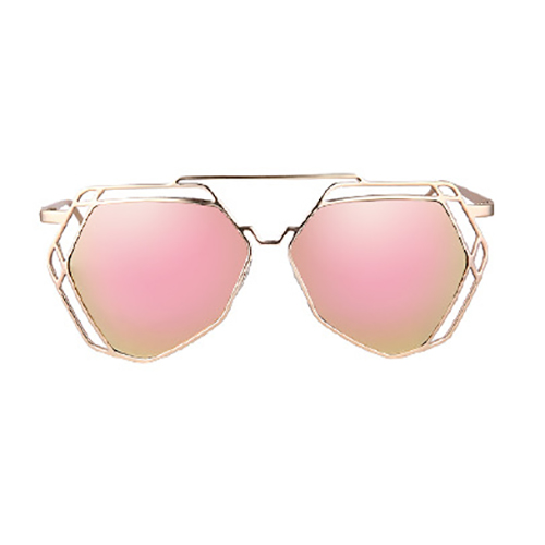 Fashion Hollow-out Pink PC Sunglasses