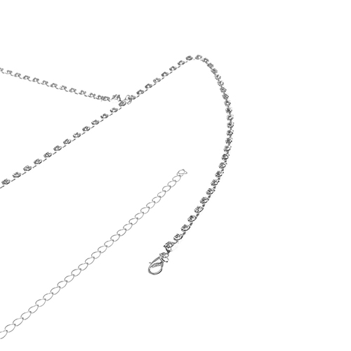 Fashion Hollow-out Silver Metal Necklace