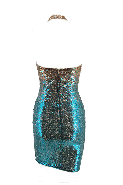 Euramerican  Sequined Decorative Sheath Knee Length Dress
