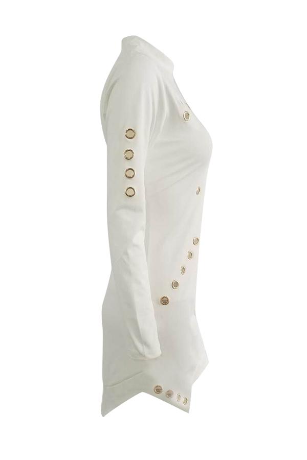 Maniche lunghe alla moda con maniche corte-fuori vestito bianco del fodero sano del tessuto