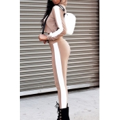 Fashion stripe two-piece suit
