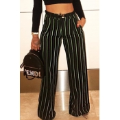 Sexy Colored Striped Straight Pants