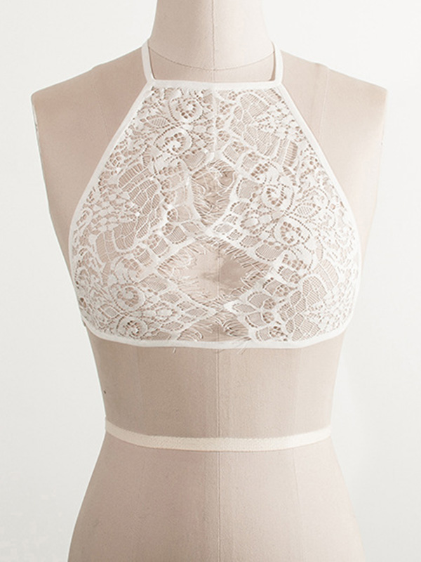 Sexy Hollow-out White Lace Corsets