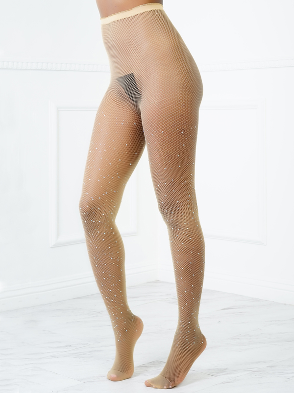Sexy Sequined Decorativo Complexion Acrílico Bodystocking
