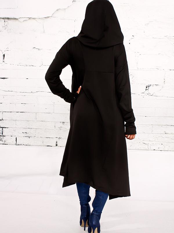 Leisure Heaps Collar Negro Asimétrico Mezclas de Algodón