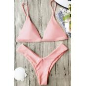 Polyester Solid Bikinis