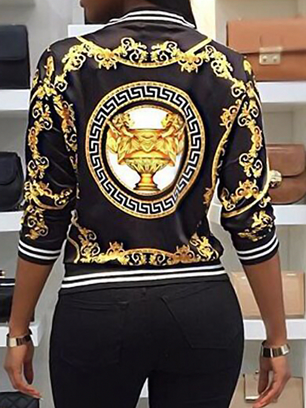 Lovely Fashion Regular Long Sleeve Coat&Jacket