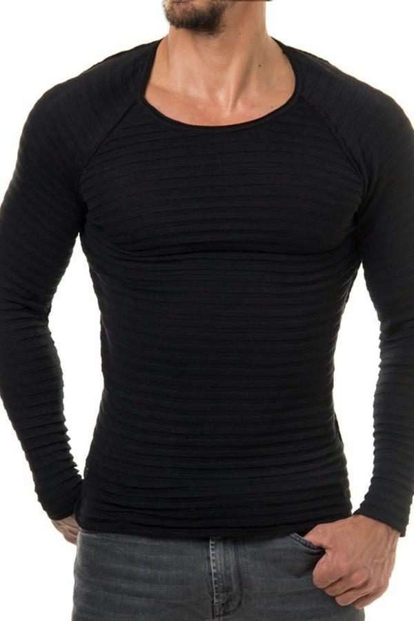 Pull en acrylique noir à manches longues Euramerican à manches longues