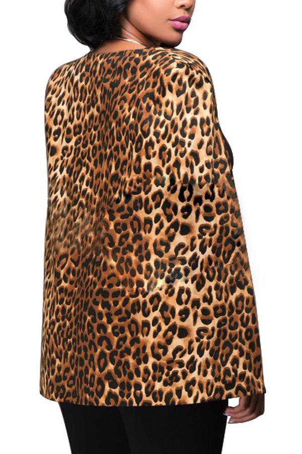 Стильный леопардовый полиэстер Blazer