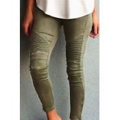 Cotton Solid High Leggings