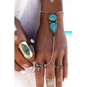 Euramerican Fashion Blue Metal Bracelet