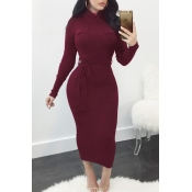 Polyester Sexy O neck Cap Sleeve Long Sleeve Sheat