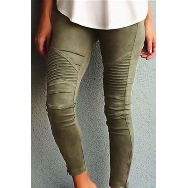 Cotton Solid High Leggings