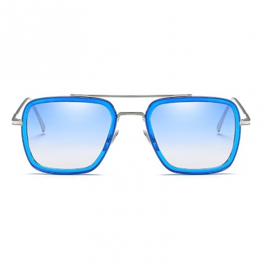 Fashion Hollow-out Blue PC Sunglasses