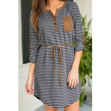 Neat As a Stripe Casual Mini Dress