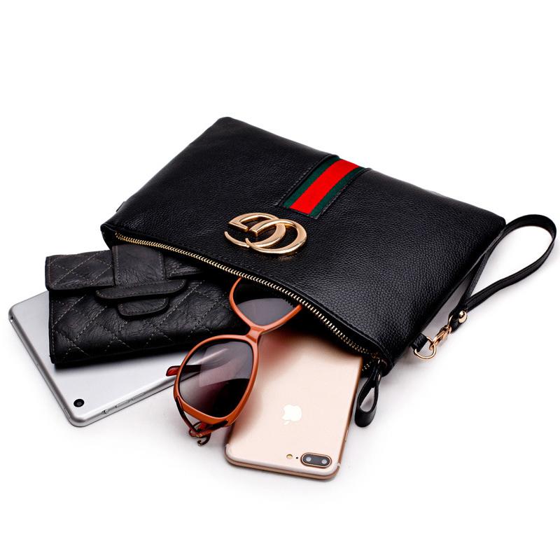 Stylish Patchwork Schwarz PU Clutches Taschen