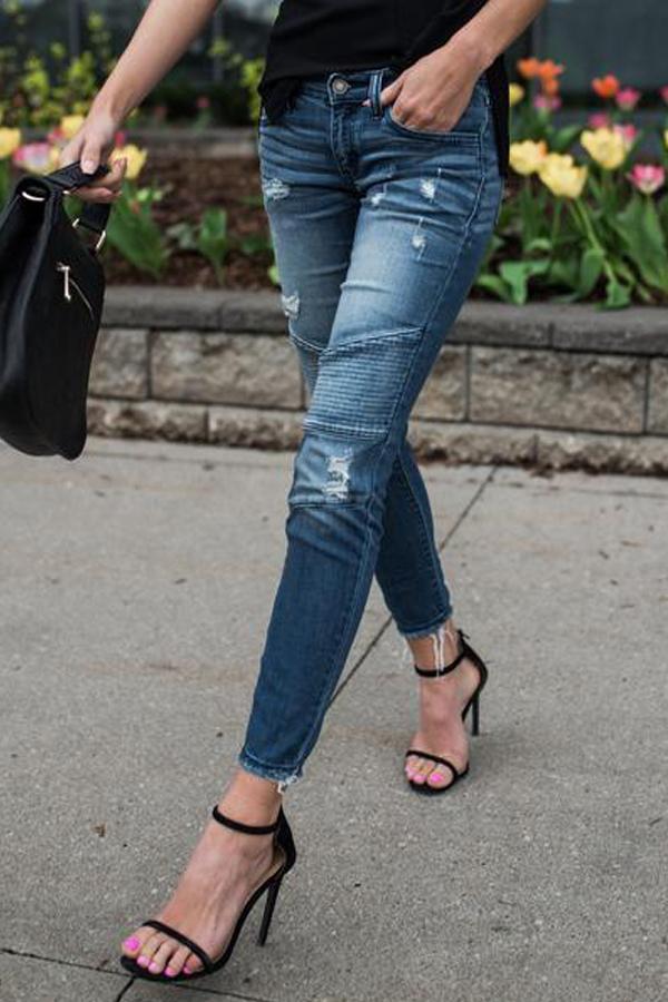 Euramerican пэчворк синий джинсовые брюки