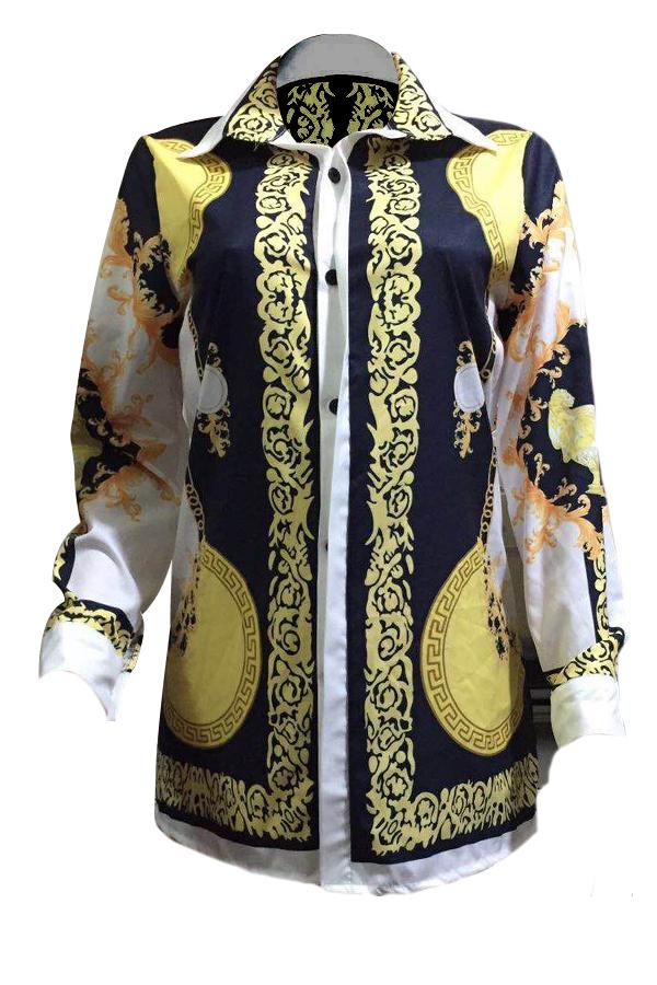 Polyester Casual Turndown Collar Cap Sleeve Long S