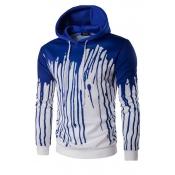 Euramerican Printed Blue Polyester Hoodies men's c