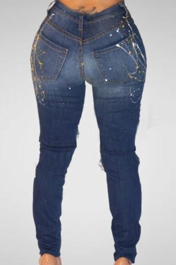 Pantalones de mezclilla azul