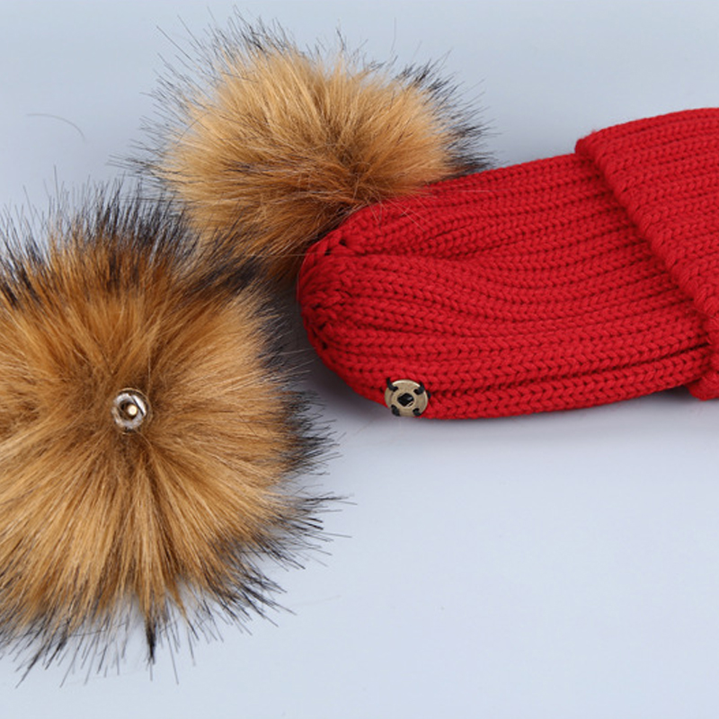Euramerican Maomao Ball Decorative Red Acrylic Hats