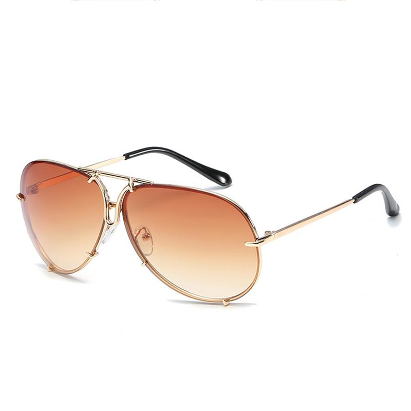 Gafas De Sol De Moda Dorado Marco Café PC