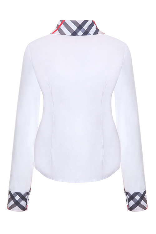 Camisas De Poliéster Brancas Com Colar
