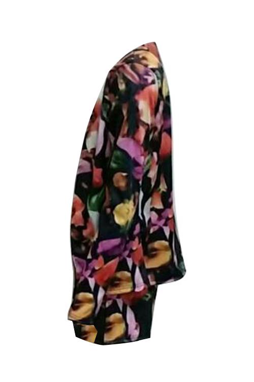 Precioso Pantalón Corto De Dos Piezas De Poliéster Impreso En Cuello V (sin Impresión De Posición)