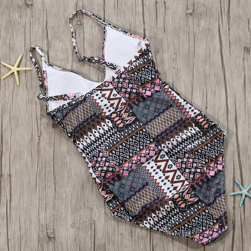 Lovely Fashion Totem Printed Polyester One-piece Swimwears