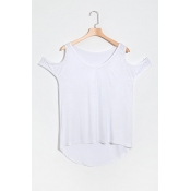 Lovely Fashion Round Neck Short Sleeves Dew Should