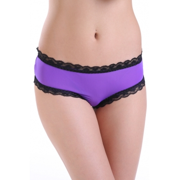Lovely Sexy See-Through Purple Polyester Panties