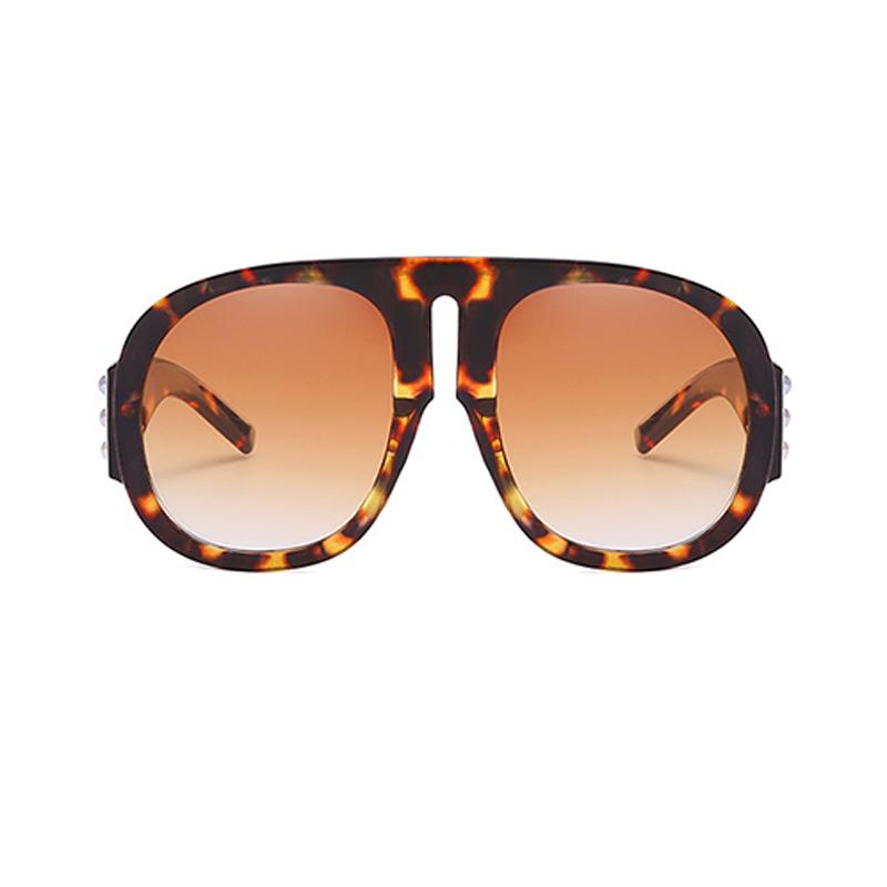 Красивые Модные Заклепки Декоративные Леопардовые Солнцезащитные Очки Для ПК