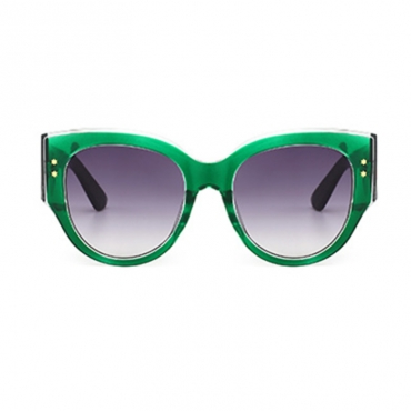 Lovely Fashion Color Striped Green PC Sunglasses