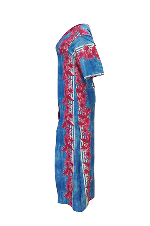 Lovely Euramerican Printed Rose  Two-piece Pants Set