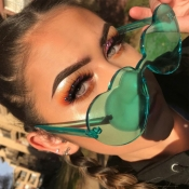 Lovely Green Plastic Sunglasses