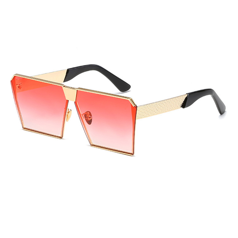 Lovely Fashion Square Frame Pink Metal Sunglass