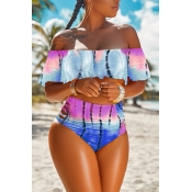 Lovely Print Two-piece Swimwear
