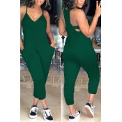 Lovely Euramerican Dew Shoulder Green One-piece Ju