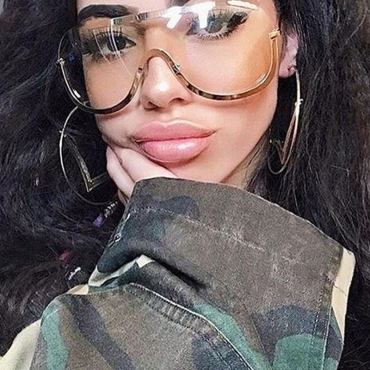 LovelyEuramerican See-Through Metal Sunglasses