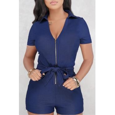 Lovely Trendy Zipper Design Rompers