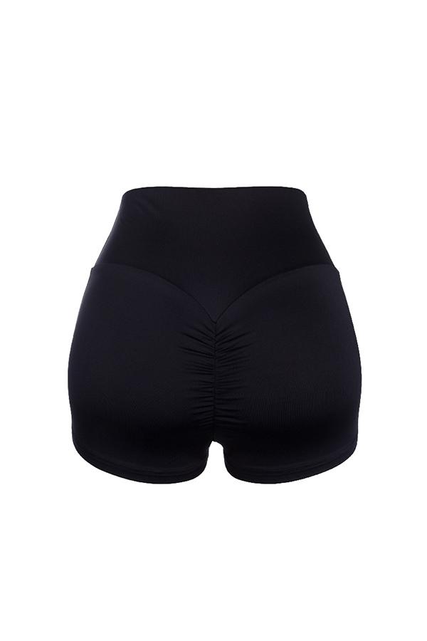 Lovely Casual High Waist Black Sport Shorts
