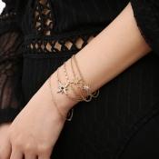 Lovely Chic Multilayer Gold Metal Bracelet
