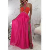 Lovely Casual  Hollow-out Rose Red  Floor length D
