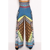 Lovely Ethnic Style Totem Printed Yellow Pants