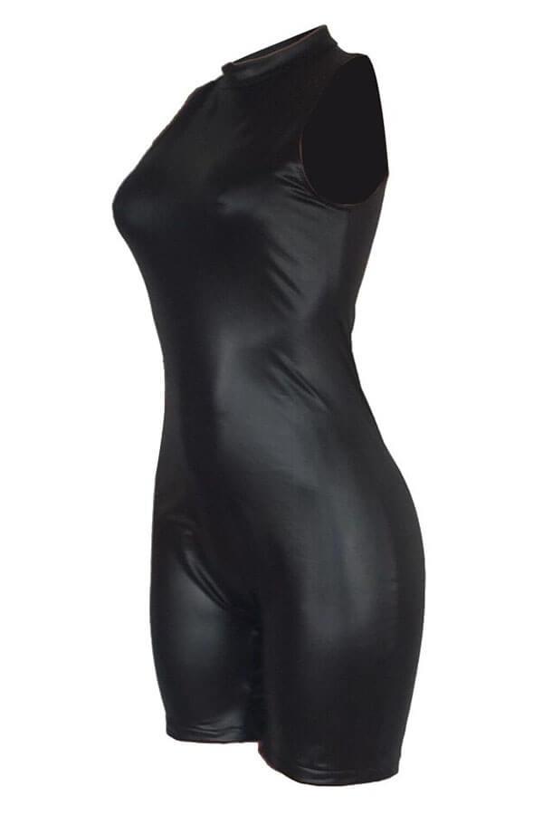 Lovely Fashion Skinny Black One-piece Romper