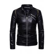 Lovely Fashion Long Sleeves Zipper Design Black Sh