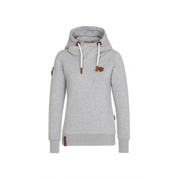 Lovely  Casual Long Sleeves Drawstring Light Grey Hoodies