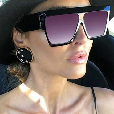 Lovely Fashion Gradual Change Black PC Sunglasses