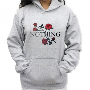 Lovely  Casual Hooded Collar Pocket Grey Cotton Hoodies