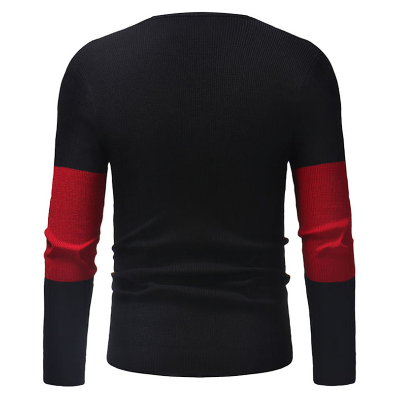 Lovely Casual Patchwork Black Sweater